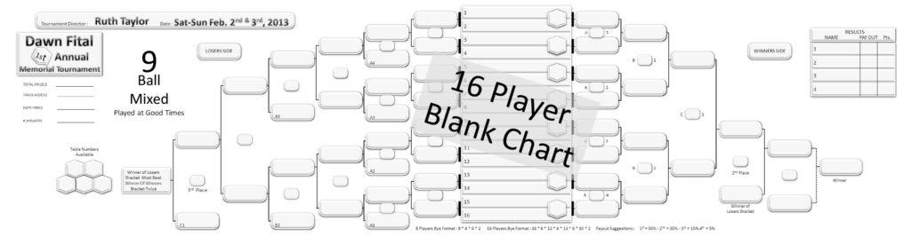 16 Player Tournament Brackets